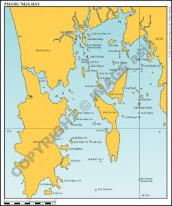 Phang Nga Bay sailing chart