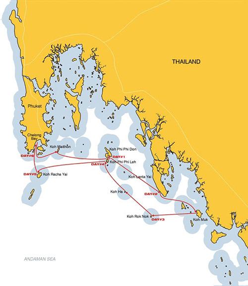 Phuket cabin charter sailing cruises aboard S/Y Amadeus