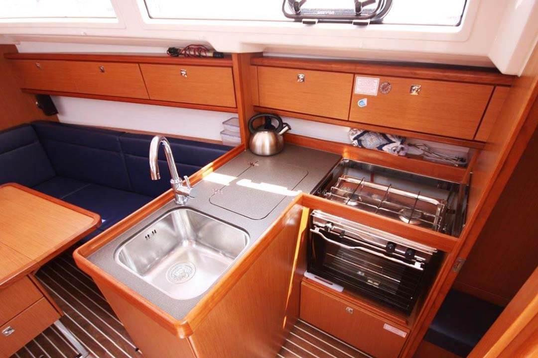 Bavaria 33C galley charter boat Phuket Thailand