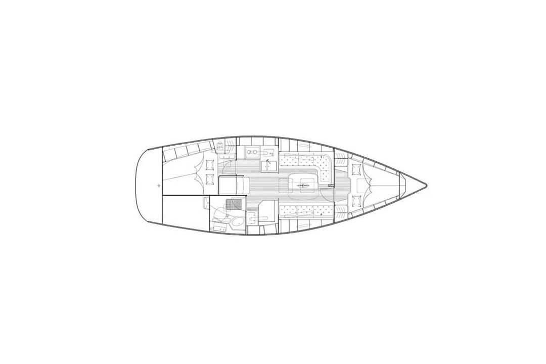 Bavaria 34C layout sailing boat Phuket