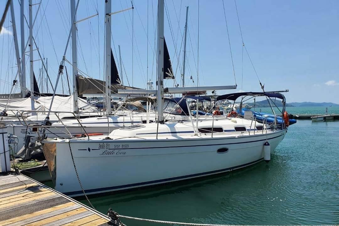 Bavaria 34C marina sailing boat Phuket
