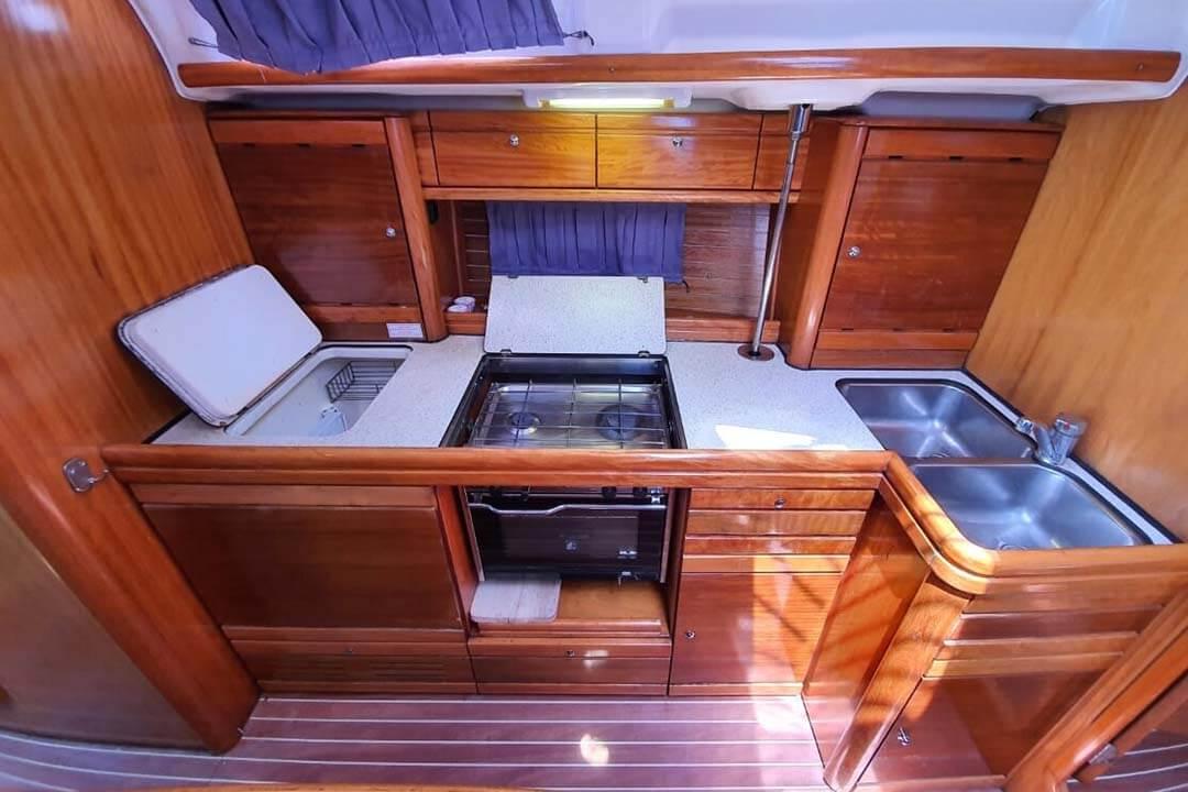 Bavaria 39C galley charter boat Phuket
