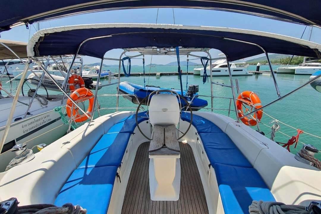 Bavaria 39C helm charter boat Phuket