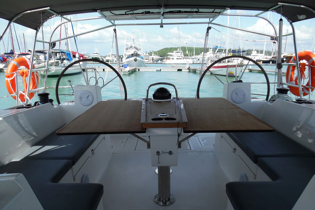 Bavaria 45 Holiday helm charter Boat Phuket