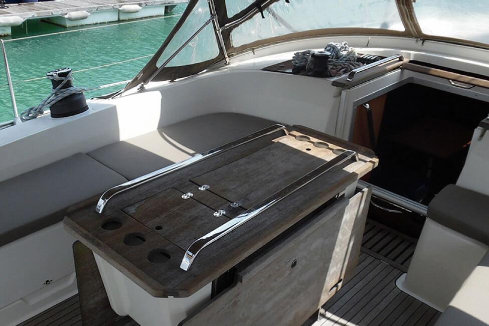 Bavaria 46C cockpit charter boat Phuket