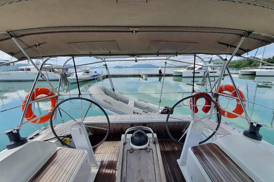 Bavaria 46C cockpit charter yacht Phuket