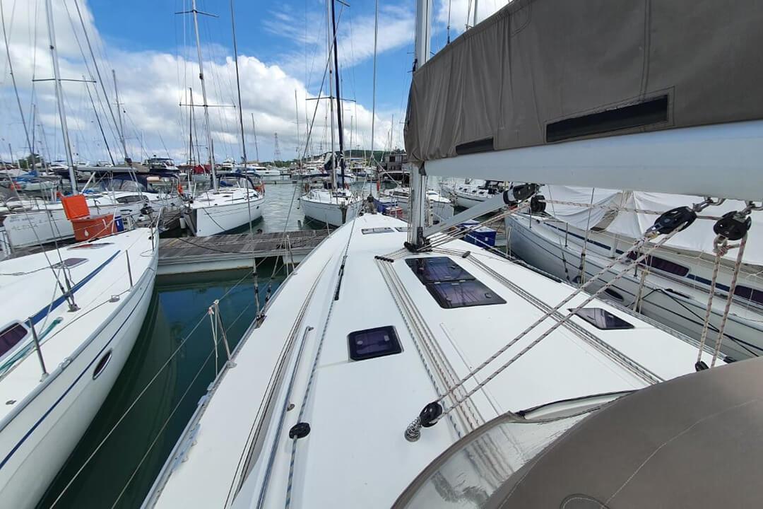 Bavaria CR46_marina front view yacht Phuket