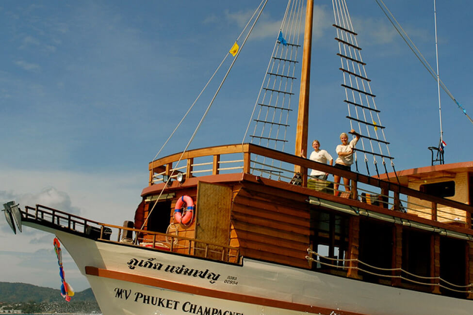 Champagne Boat Charter Thailand