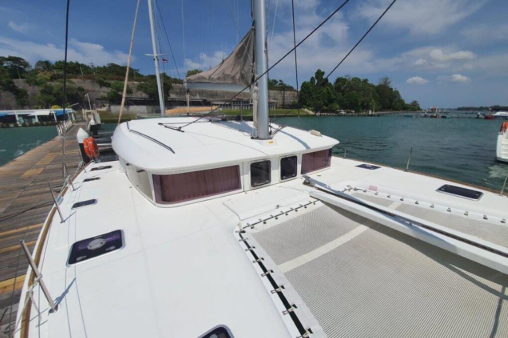 Lagoon 400 S2 front charter catamaran Phuket