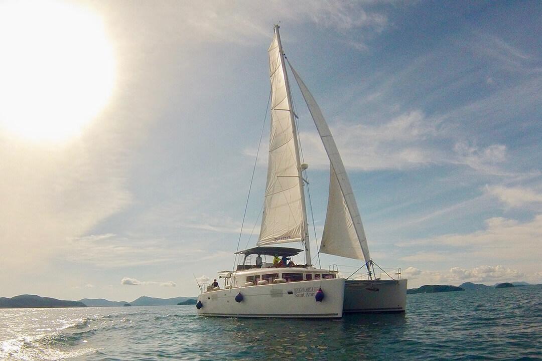 Lagoon 450 sailing in Phuket