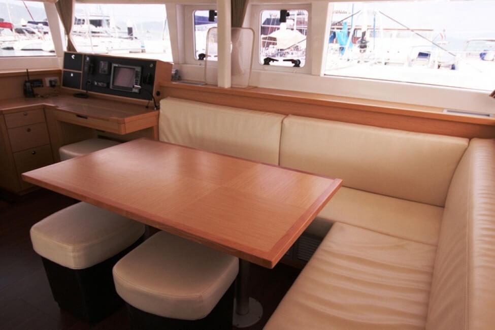 Lagoon 450 salon charter catamaran Phuket