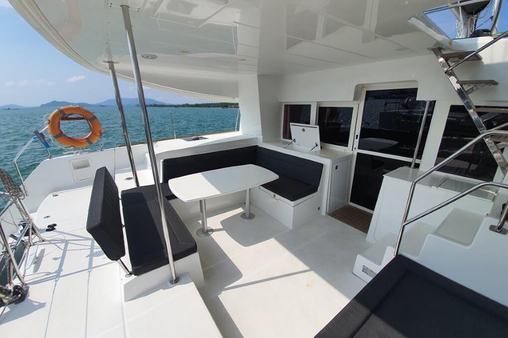 Lagoon 450S cockpit charter boat Phuket