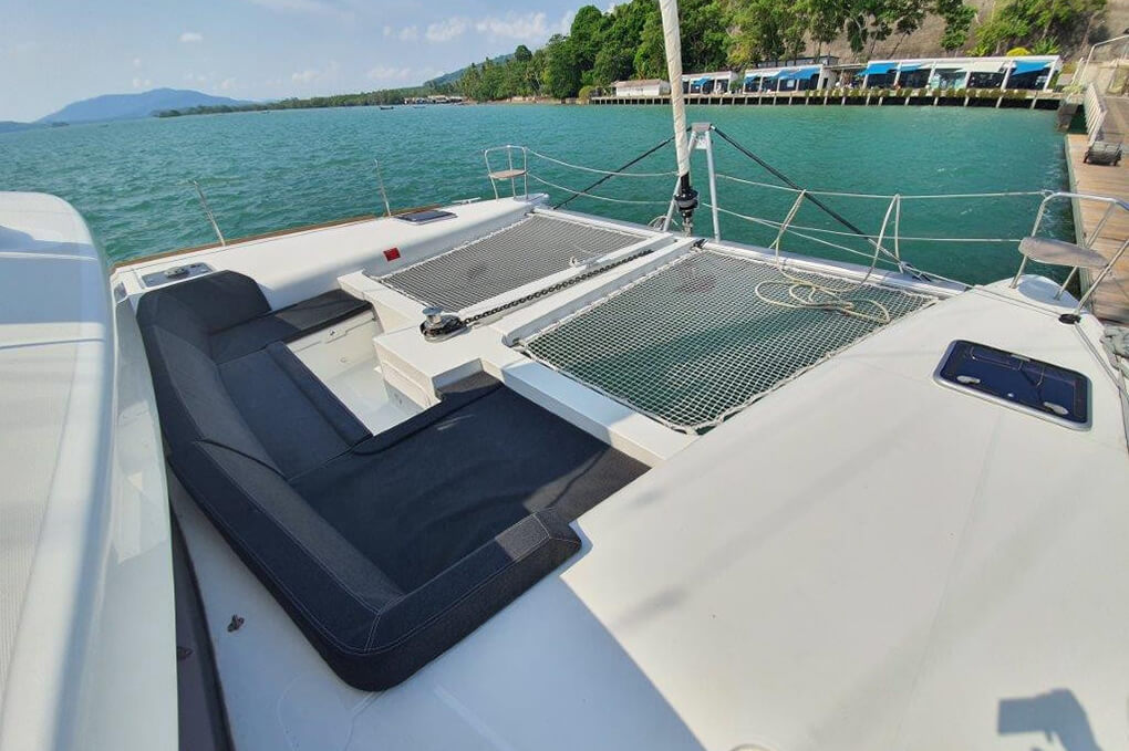 Lagoon 450S front charter catamaran Phuket