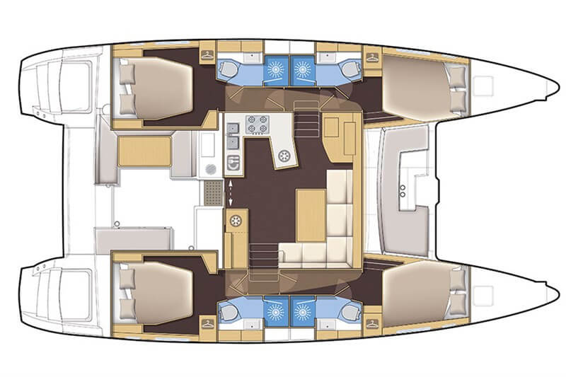 Lagoon450S_4cab_layout_pic Charter Phuket