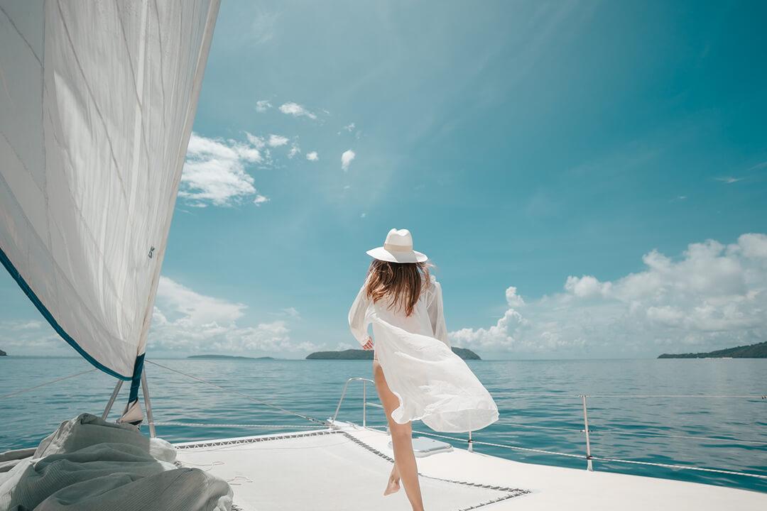 Mumby 48 catamaran sailing Phuket
