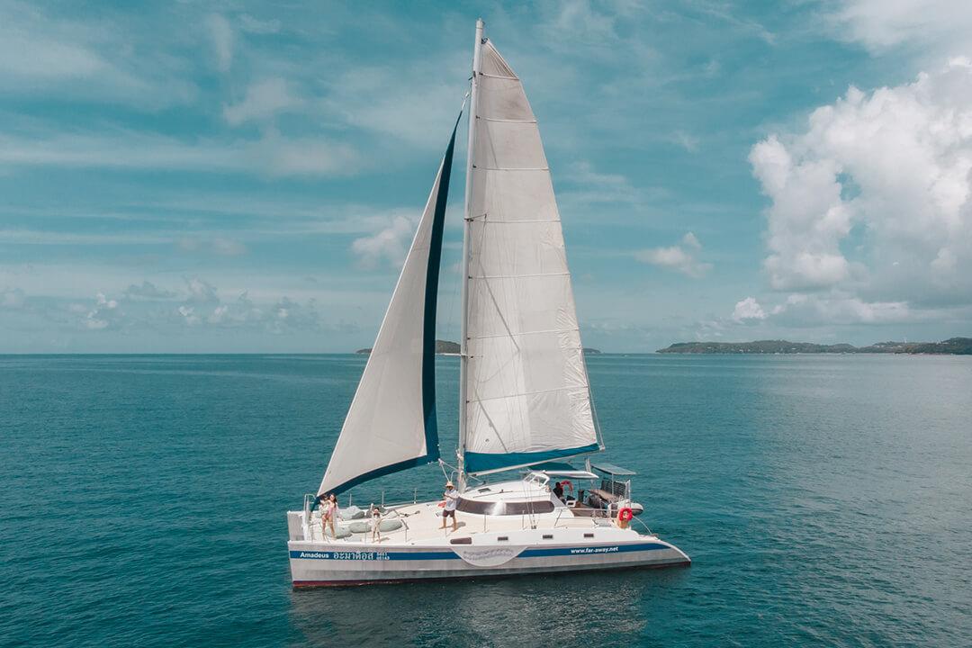 Mumby 48 sailing catamaran Phuket