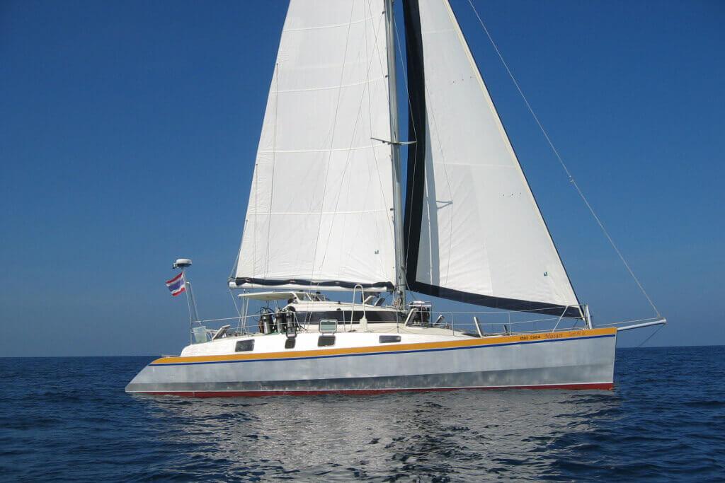 Mumby 48 sailing charter Thailand