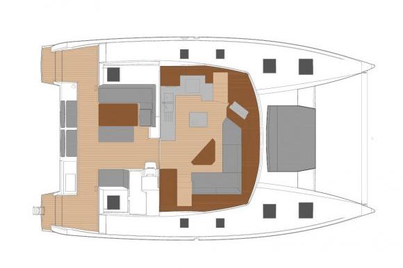 Saona47 Layout catamaran sailing Phuket Thailand