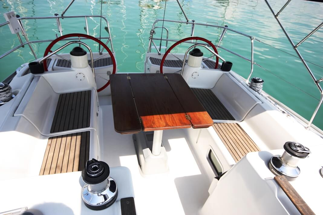 Sun Odyssey 40 cockpit sailing boat Phuket
