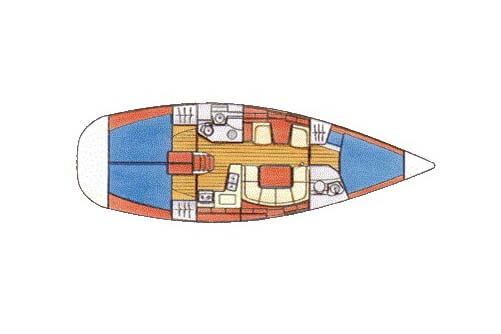 Sun Odyssey 40 layout sailing Phuket