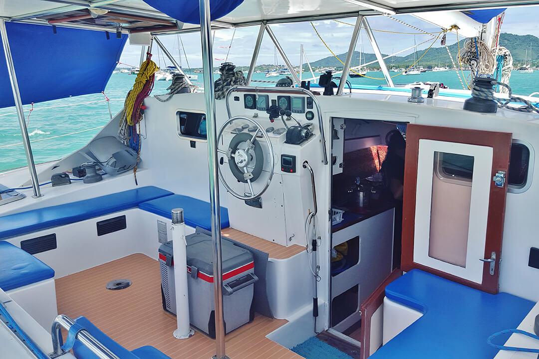 Swift cockpit Phuket sailing