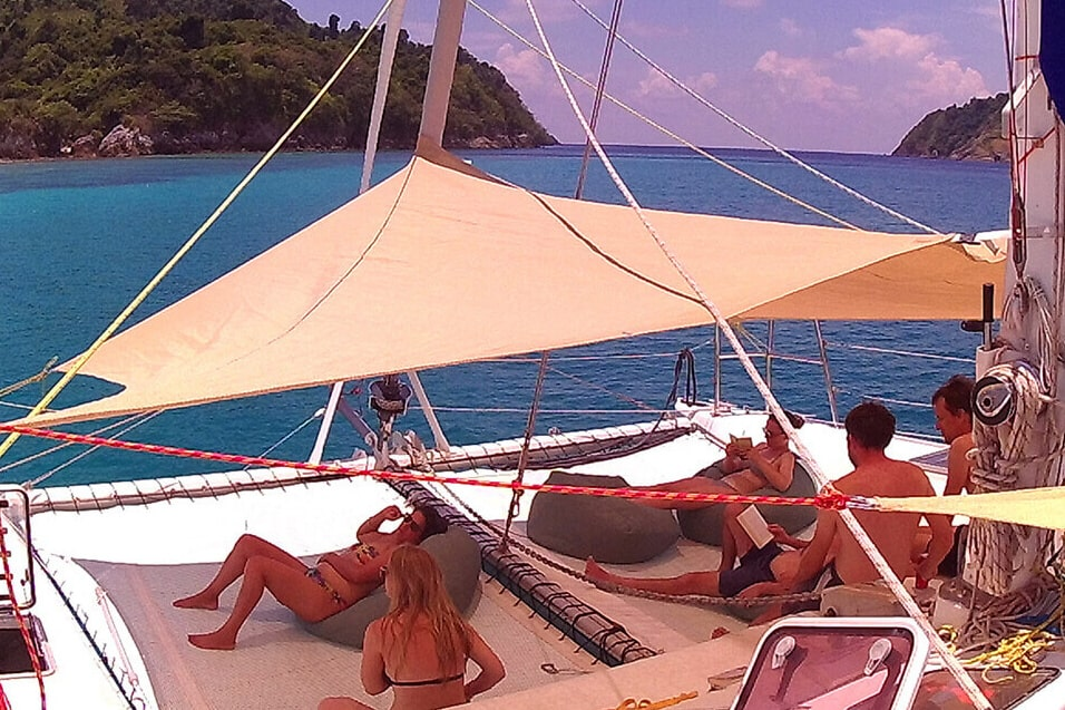 Swift relaxing boat Charters Thailand