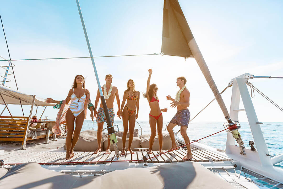 Hype dancing on boat Phuket