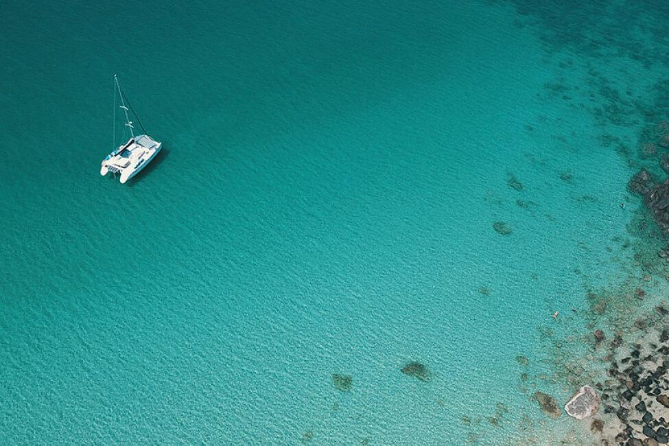 Lagoon 440 on anchor in Thailands islands