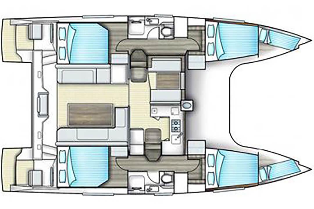 Nautitec Open 40 layout Plan