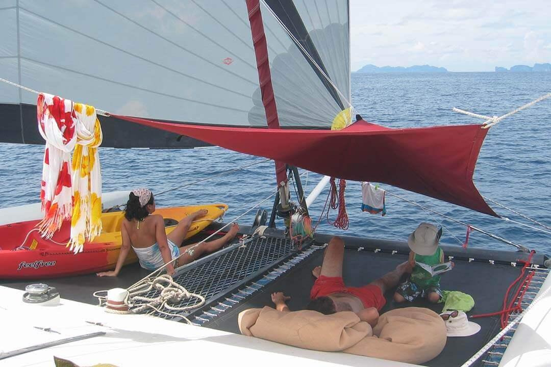 Grainger 40 netting sailing Phuket (1)